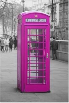 Poster Telefonkiosk i London
