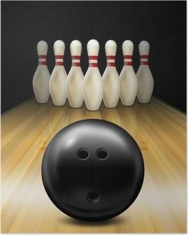 Tenpin bowling lane Poster