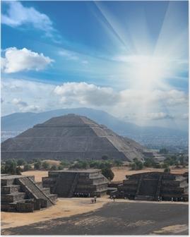 Teotihuacan Pyramids Poster