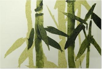 Póster Textura de bambú