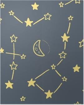 Poster Texture de constellation d'étoiles