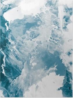 Poster Texture de marbre bleu