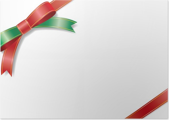 the card of a christmas color ribbon poster