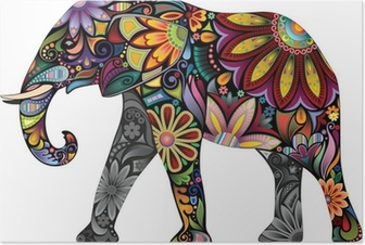 The cheerful elephant Poster