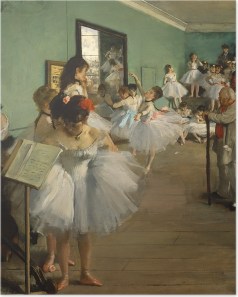 The Dance Class Poster - Impressionism