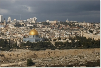 The holy city Jerusalem from Israel Poster