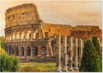 The Majestic Coliseum, Rome, Italy. Poster