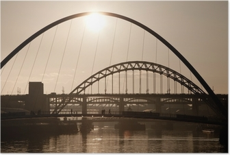 The Millenium and Tyne Bridges. Newcastle Upon Tyne. Poster