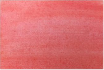 The texture of a sheet of paper painted with red paint Poster