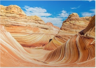 The Wave, Arizona rocky desert Poster