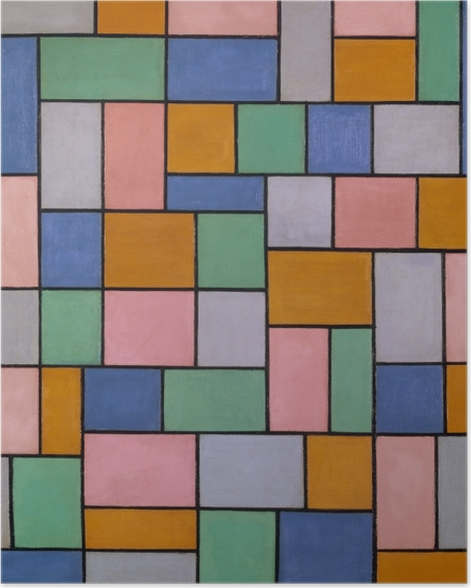 Poster Theo van Doesburg - Composition en dissonance - Reproductions