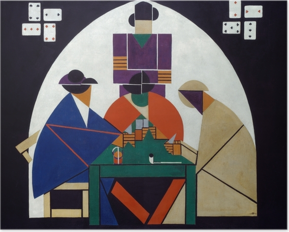 Poster Theo van Doesburg - Joueurs de cartes - Reproductions