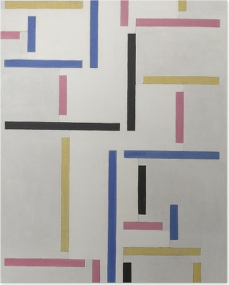 Poster Theo van Doesburg - Rythme d'une danse russe - Reproductions