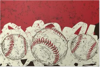 Three baseballs Poster