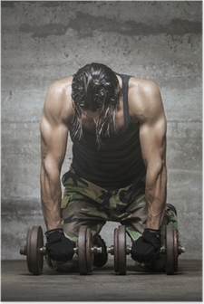 tired muscle athlete Poster