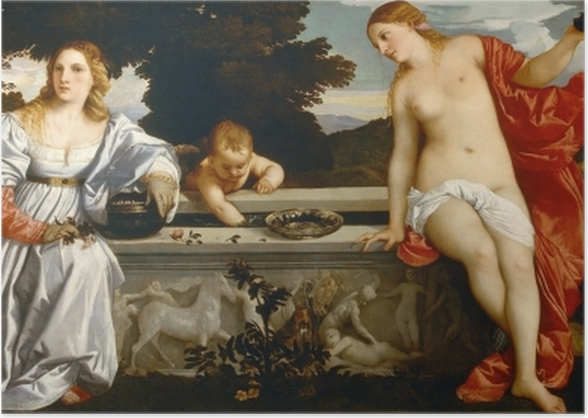 Titian - Sacred and Profane Love Poster - Reproductions
