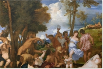 Titian - The Andrians Poster