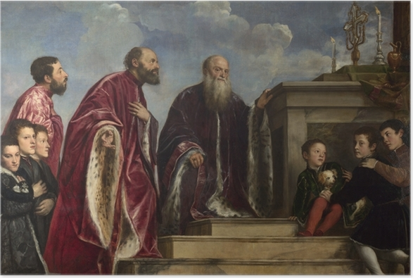Titian - The Vendramin Family Poster - Reproductions
