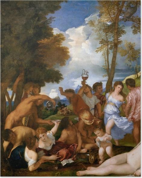 Poster Titien - Arrivée de Bacchus sur l'île d'Andros - Reproductions