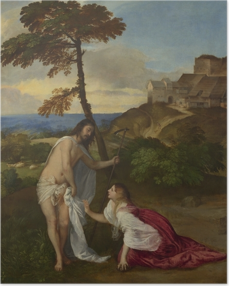 Poster Titien - Noli me tangere - Reproductions