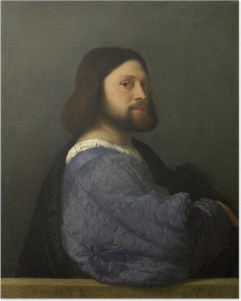 Poster Titien - Portrait d'homme - Reproductions