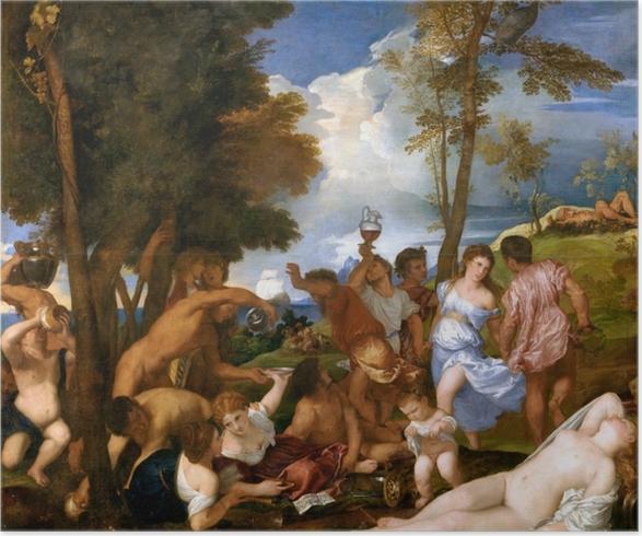 Póster Tiziano - Los andrios - Reproducciones