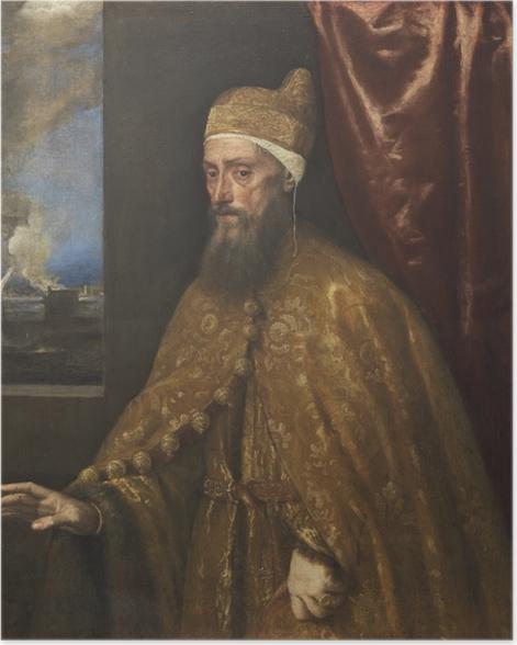 Póster Tiziano - Retrato de dux Francesco Venier - Reproducciones