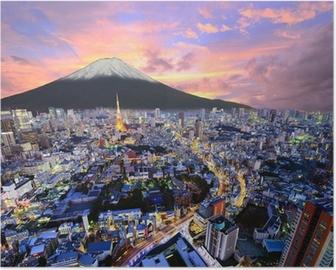 Poster Tokyo et Fuji
