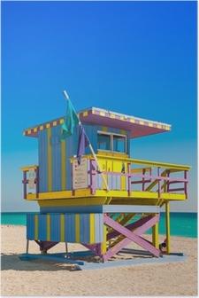Poster Tour de sauveteur à South Beach, Miami Beach, Floride
