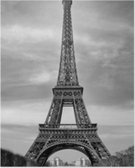 Tour Eiffel et voiture rouge- Paris Poster