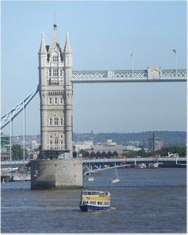 Poster Tower Bridge et bateaux de touristes
