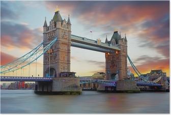 Tower Bridge in London, UK Poster