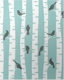 Poster Träd mönster