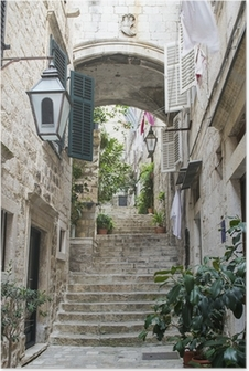 Poster Trappor i Gamla Stan i Dubrovnik