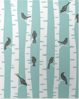 trees pattern Poster
