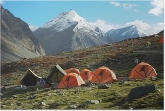 Trekking camp Poster