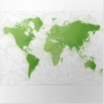 Vector detailed world map with borders and country names education triangular world map with largest cities in the world poster gumiabroncs Image collections