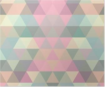 Póster Triángulo fondo de mosaico. fondo geométrico