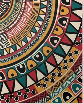 Tribal ethnic background Poster