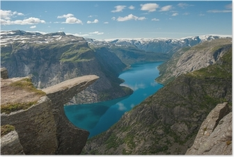 Trolltunga, Troll's tongue rock, Norway Poster