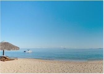 Tropical beach panorama Poster