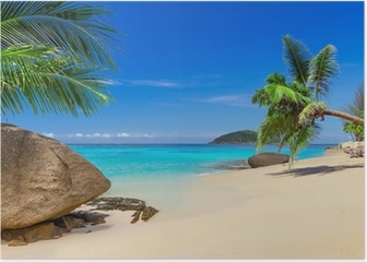 Tropical beach scenery in Thailand Poster