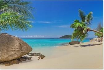 Poster Tropisch strand landschap in Thailand