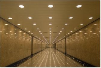Poster Tunnel van lichten