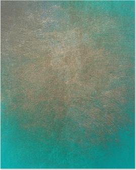 Poster Turquoise beton grunge textuur voor de achtergrond