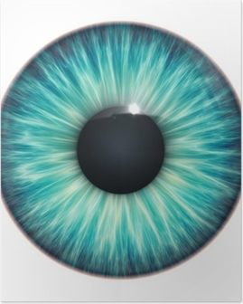 Poster Turquoise texture des yeux