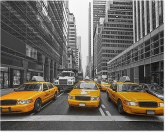 TYellow taxis in New York City, USA. Poster