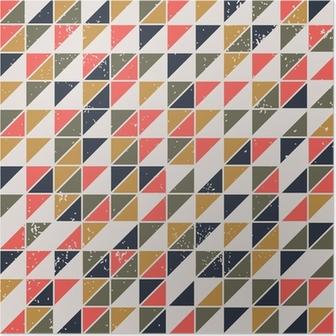 Poster Uitstekende abstracte naadloze patroon met driehoeken