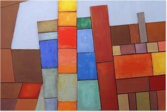 Póster Un Collage abstracto pintado