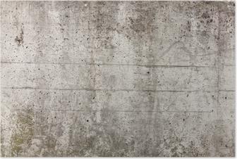 Poster Un mur de béton gris pour le fond